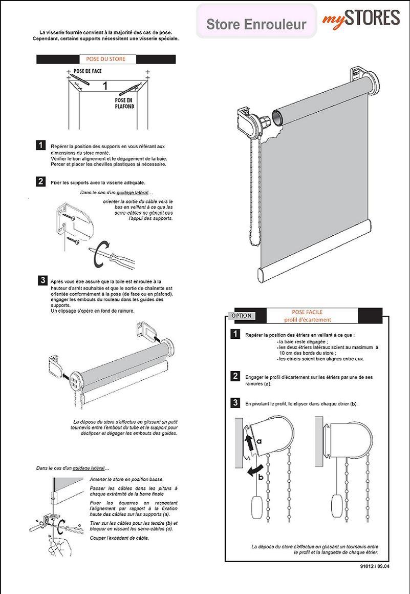 store enrouleur tamisant sur mesure. Black Bedroom Furniture Sets. Home Design Ideas